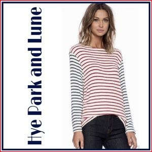 Neptune Long Sleeve Red/Navy Striped Top